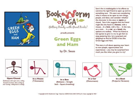 Bookworm Yoga Green Eggs Ham