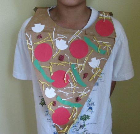 Pizza costume craft
