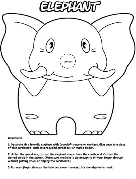 Crayola Free Coloring Pages Print Elephant Page