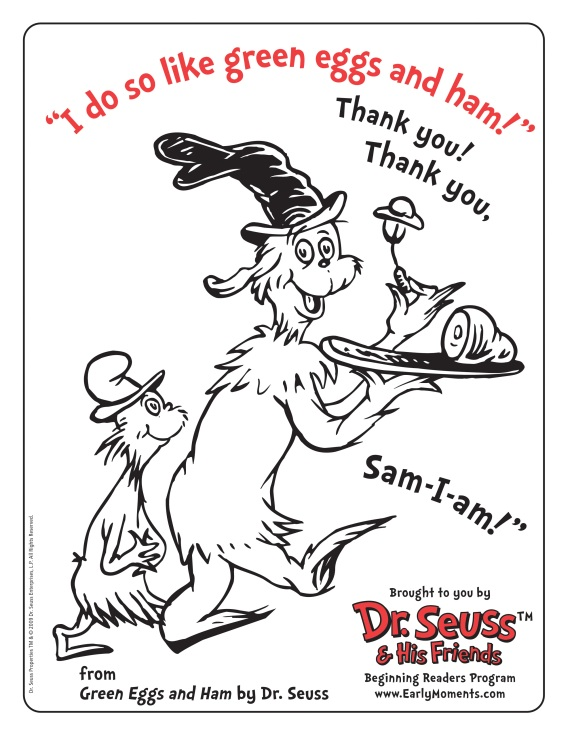 Dr Seuss – Green Eggs and Ham Worksheet