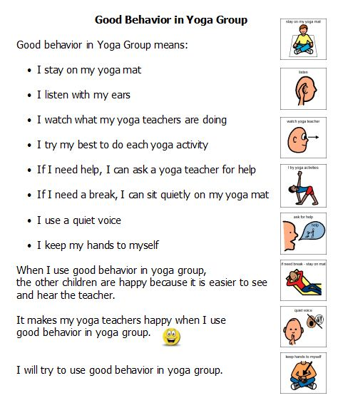 Yoga Group Social Story