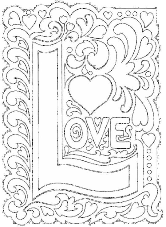 I Love You Coloring Pages Pdf : February omazing kids