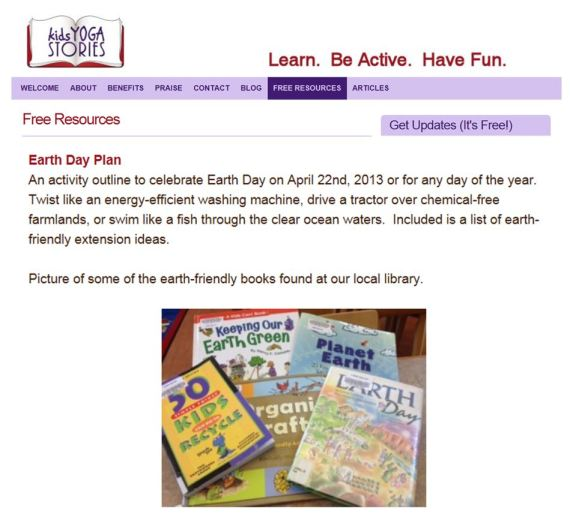 KYS Earth Day free lesson plan