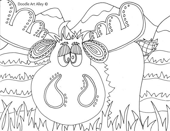 moose track coloring pages - photo#20