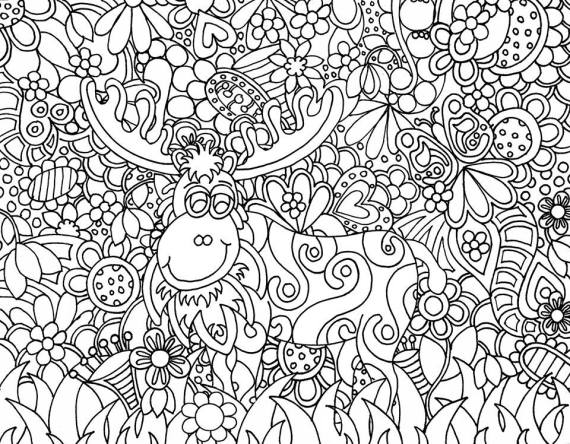 moose track coloring pages - photo#35