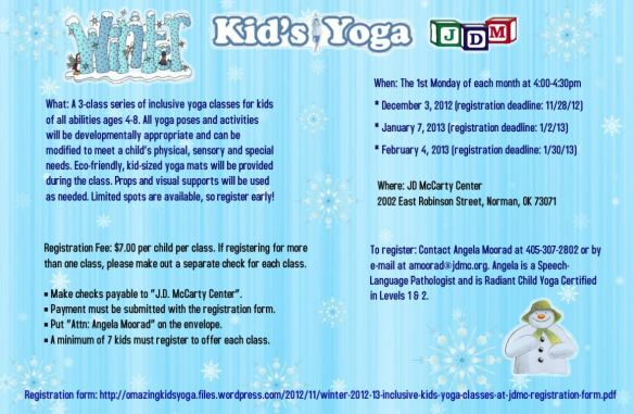 Inclusive Kids Yoga Classes At The Jd Mccarty Center In Norman Oklahoma Omazing Kids