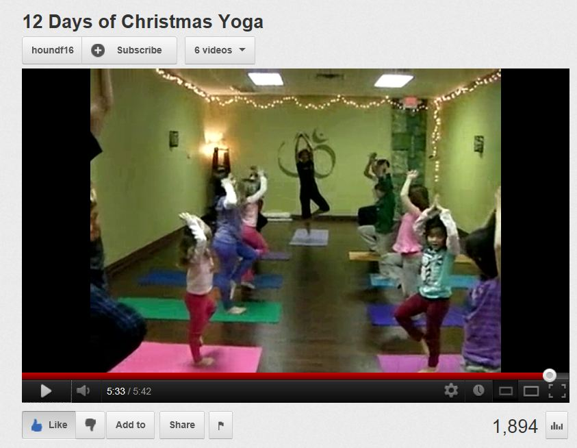 12 days of Christmas yoga