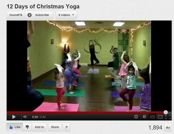 12 days of Christmas yoga