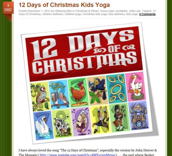 12 days of kids yoga