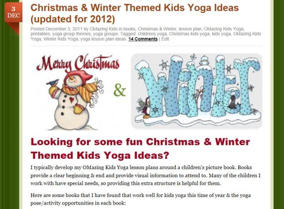 Christmas & Winter Kids Yoga post