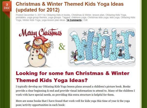 Christmas Decorations Lesson Plans : Winter kids yoga omazing