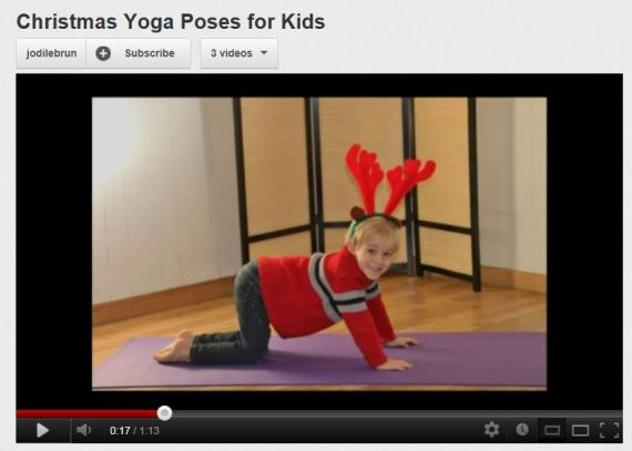 christmas yoga poses for kids