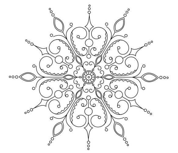 elaborate snowflake