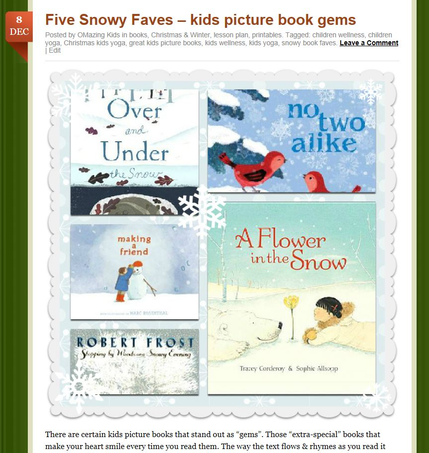 Five snowy faves post