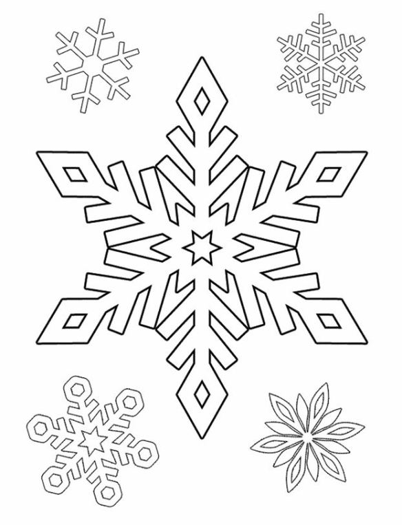 snowflakes coloring
