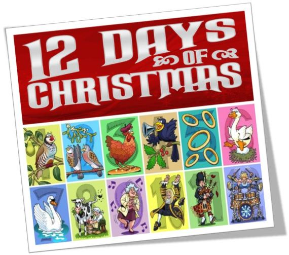 The 12 Days of Christmas blog post