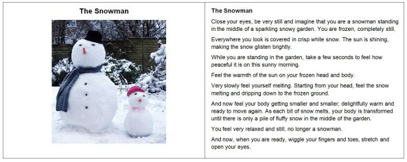 The Snowman relaxation script