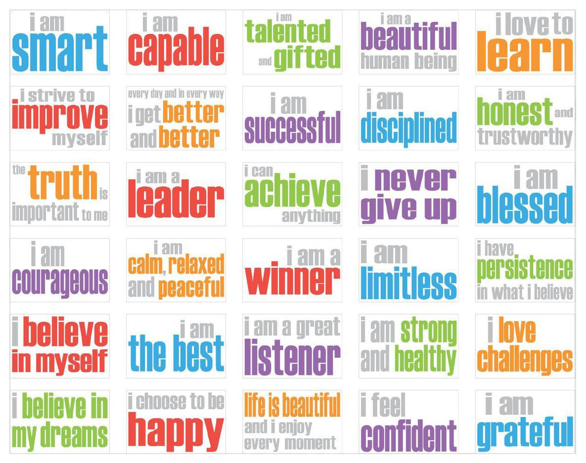 Lively image with printable affirmations