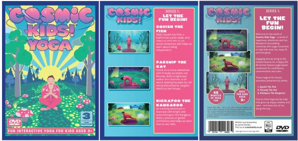 Cosmic Kids Yoga DVD cover & details