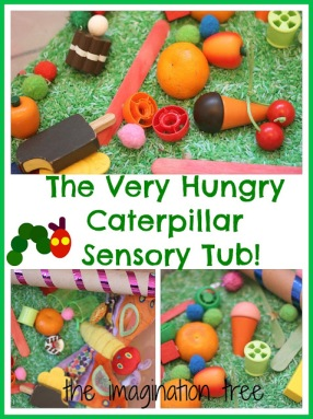 hungry caterpillar sensory tub ideas