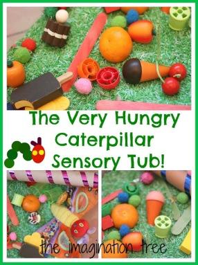 hungry caterpillar sensory tub ideas