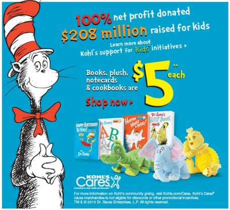 Kohl's Cares Seuss products