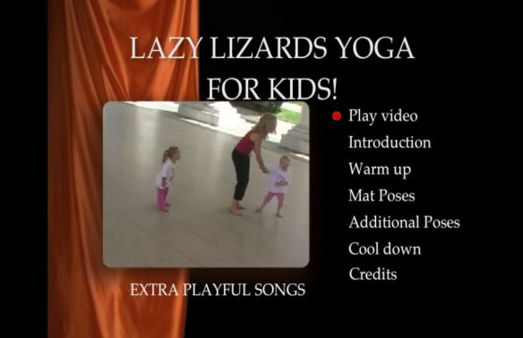 Lazy Lizards DVD menu screen