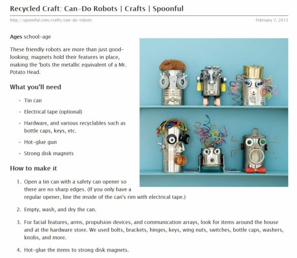 recycled robot craft