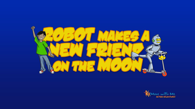 Robot Makes a New Friend on the Moon
