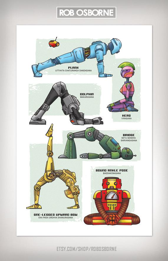 Robot Yoga Theme Omazing Kids