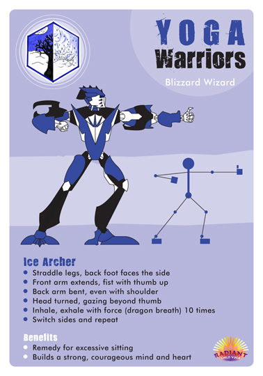 Yoga Warrior cards