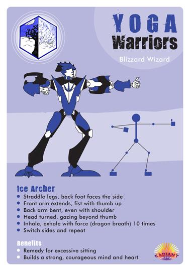 Yoga Warrior cards