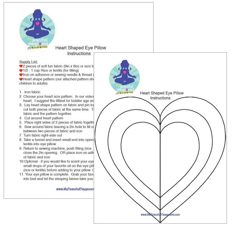 Heart-Shaped Eye Pillow Instructions & Pattern
