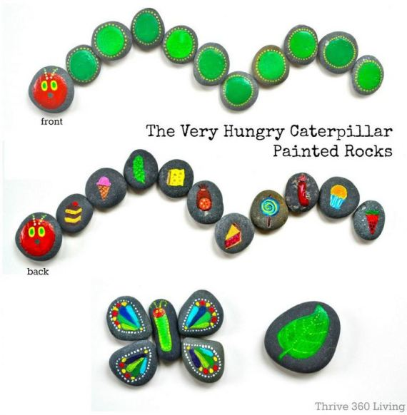 Very Hungry Caterpillar rocks