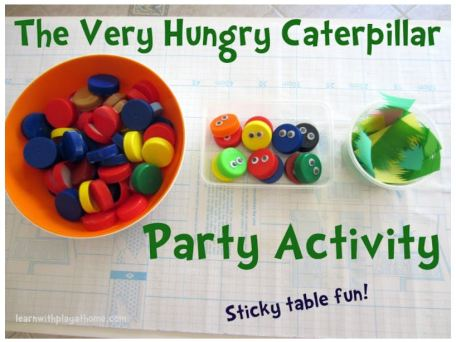 Very Hungry Caterpillar Sticky Table activity