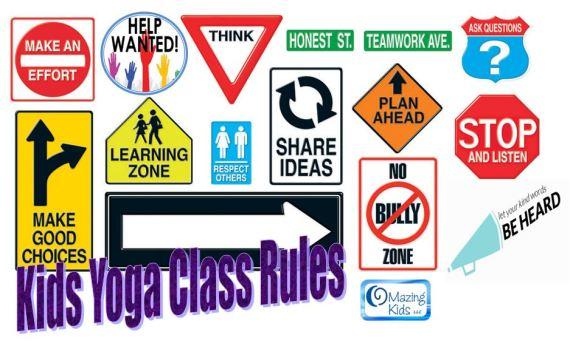 Kids Yoga Class Rules