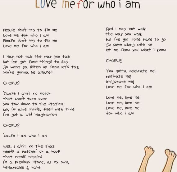 love me for wh I am lyrics