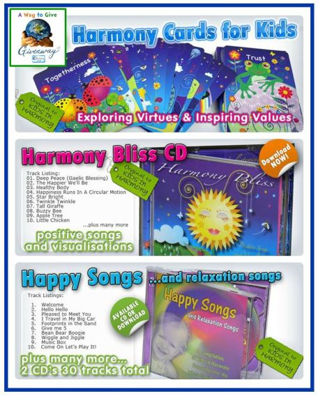 Kids in Harmony trio Giveaway