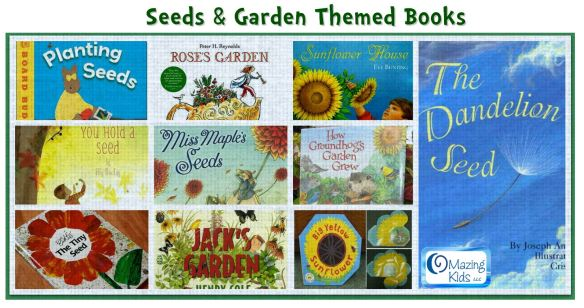 seeds & garden themed books