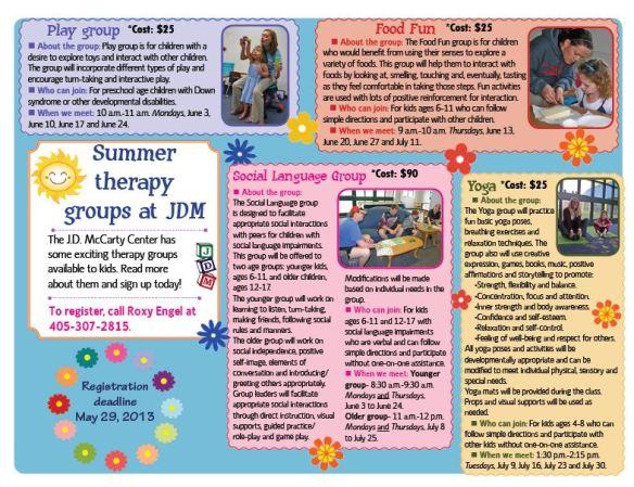 updated summer group flier