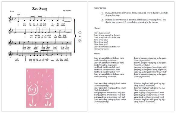 zoo song sheet music