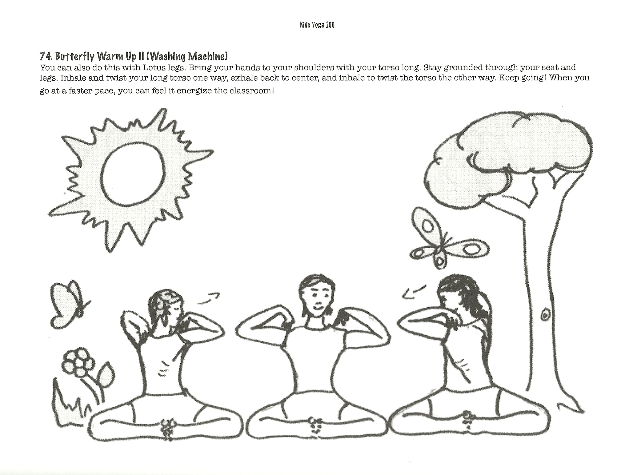 Yoga Coloring Book Pages