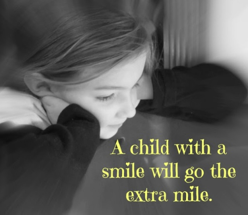 Inspirational Sayings for Preschool: A Child with a Smile will go the Extra Mile