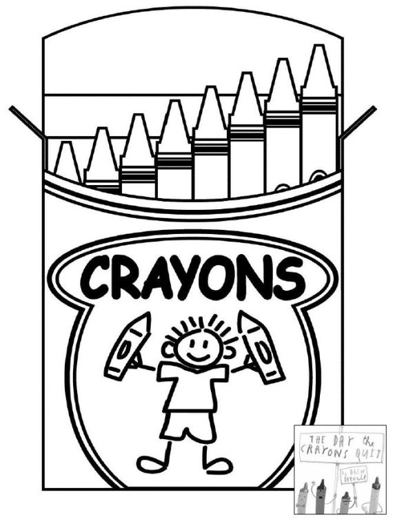 The Day the Crayons Quit coloring sheet OMazing Kids