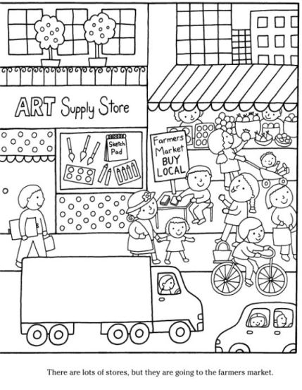 coloring page healthy snacks 2