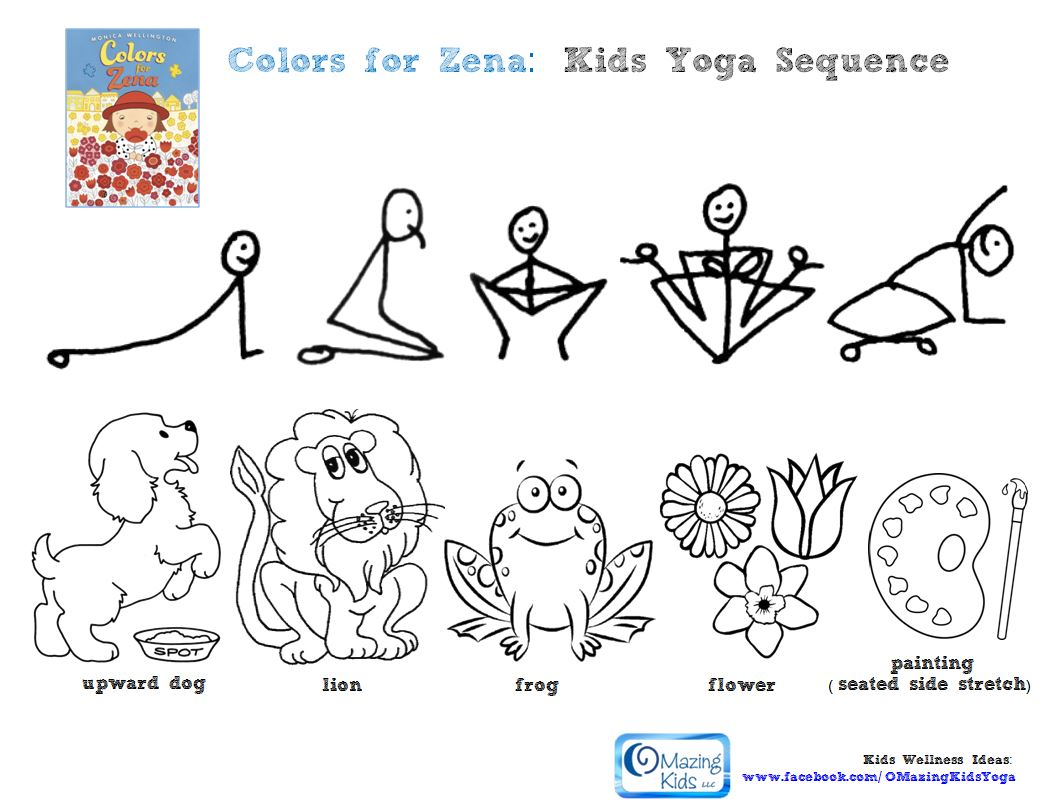 Coloring pages yoga -  Yoga Lesson Plan Click Pic To Go To That Blog Postbar Greencolors For Zena Kids Yoga Sequence Click Pic To Open 1 Page Pdf Bar Greenpicture