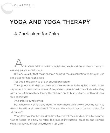 curriculum for calm