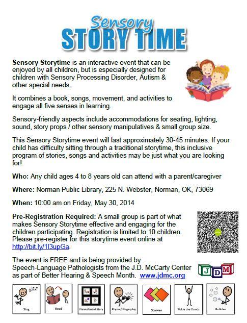 Sensory Storytime May 30, 2014