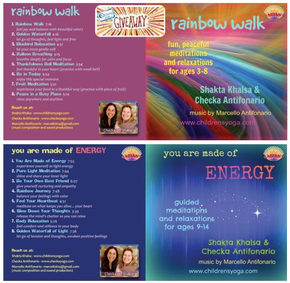 Guided Relaxation CDs Checka and Shakta Giveaway