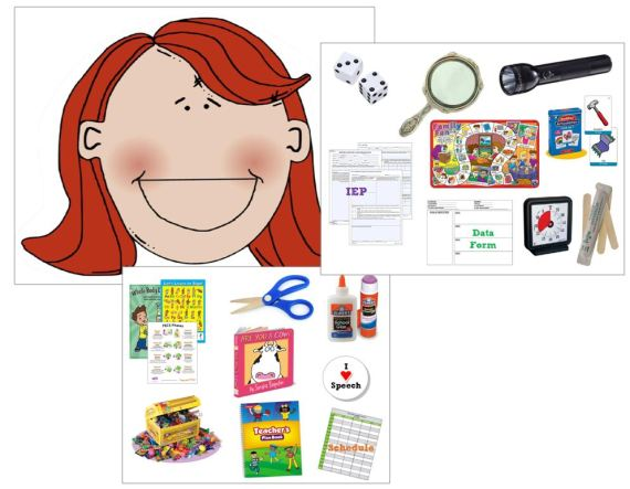There Was A Speech Teacher Who Swallowed Some Dice - click pic to open free 3-page PDF printable Story Props made by OMazing Kids